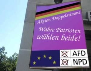 """Aktion Doppelstimme"" - auch als Wahlempfehlung für rechte Buxen ;) / Foto: @DanielLuecking"