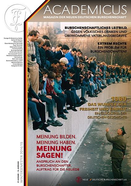 Vorab: Titel der neuesten Ausgabe 37 des Academicus, Verbandszeitschrift der DB, Erscheint Mitte November, (C) NeueDB